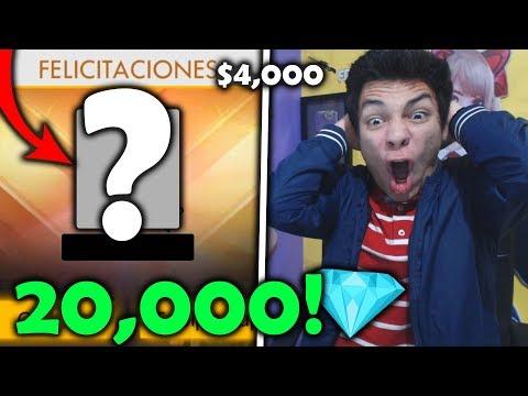 ¡ME COMPRÉ 20,000 DIAMANTES en FREE FIRE ($4,000) y me ME COMPRÉ TODO ESTO! *mucho dinero*