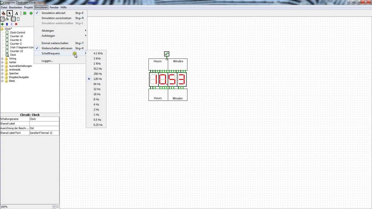 Simple Digital Clock made in Logisim + Download