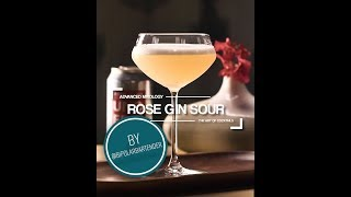 Rose Gin Sour Cocktail Recipe - Rose Wine and Gin