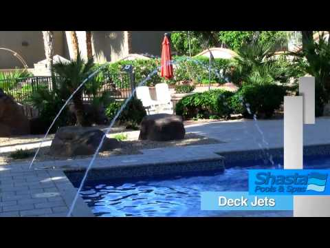 Mesa Arizona Pool Builder | Shasta Pools Deck Jets | Call Now (602) 532-3800