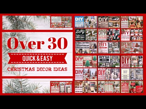 Over 30 Dollar Tree DIY Christmas Decor Craft Ideas 2019 - Farmhouse, Woodland, Rustic And More