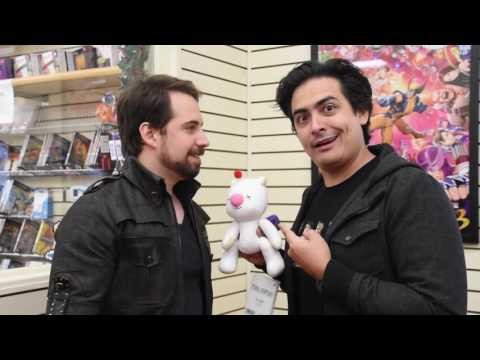 Final Fantasy XV Moogle Skit At Game Realms - With Ray Chase (Noctis) & Robbie Daymond (Prompto)
