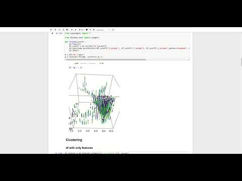 Jupyter Notebook for displaying and analysing geological data