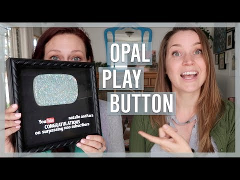 DIY Opal Play Button with Resin