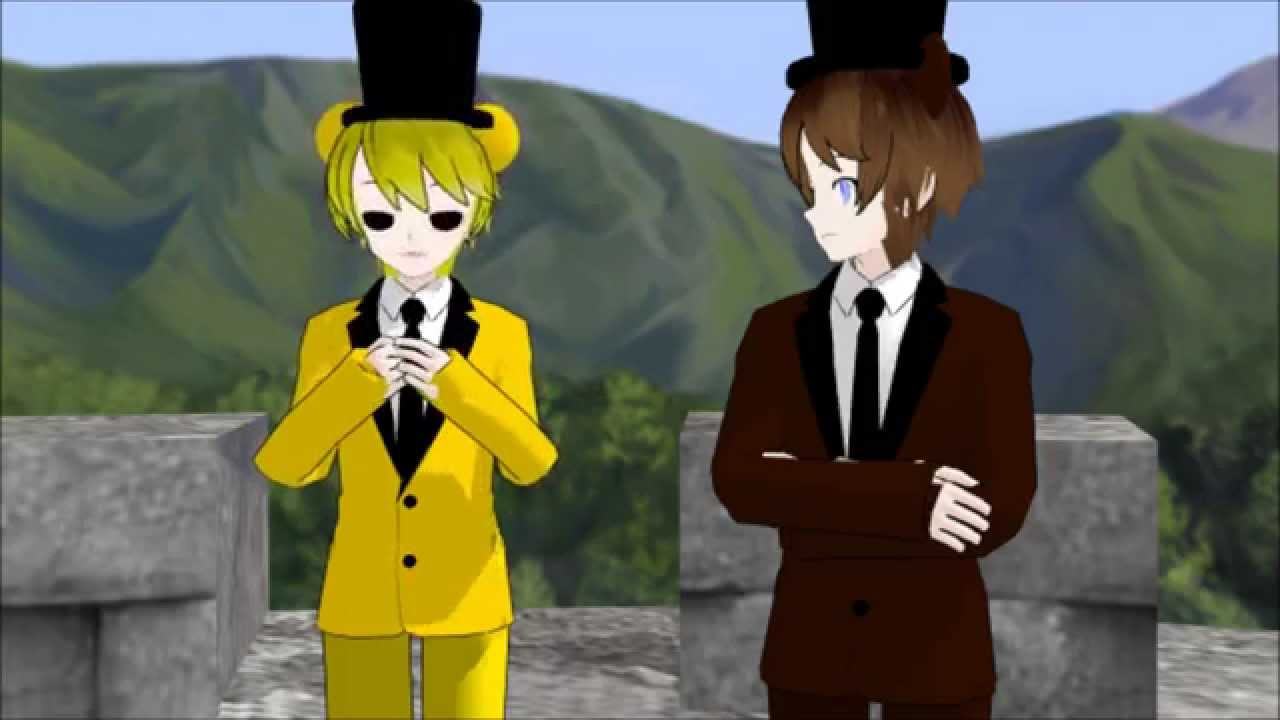 MMD Freddy Disapproves... of Golden Freddy's Singing - YouTube