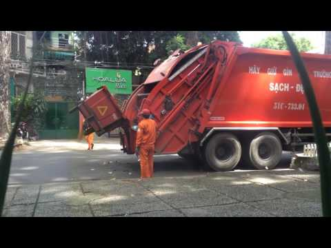 Garbage collection in Ho Chi Minh City - Vietnam