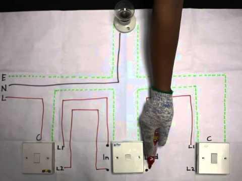 3 Gang Wiring Diagram Intermediate Switch Installation Suis Perantaraan Youtube