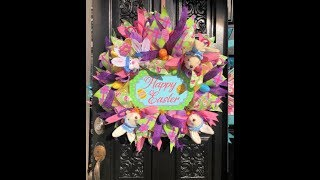 How to make a Easter wreath in poof and rolls