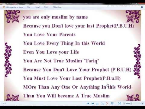 Tariq! You Are Only Muslim By Name English With Urdu Translation
