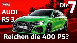 Reichen die 400 PS? 7 Fakten, zum neuen Audi RS 3   auto motor und sport