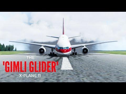 X-Plane 11 - 'The Gimli Glider' - Reconstruction of Air Canada Flight 143 1983