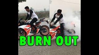 Burn Out || Ktm Rc200 || Part 2 || Yatin Zone