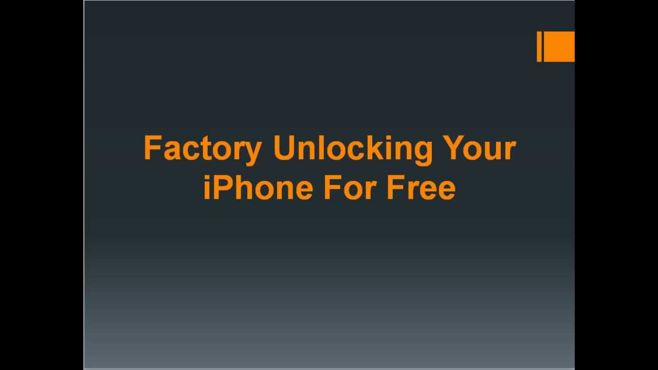 how to factory unlock iphone 39 s for free youtube. Black Bedroom Furniture Sets. Home Design Ideas
