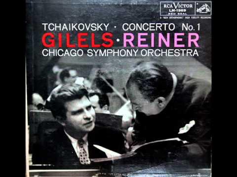 Tchaikovsky / Emil Gilels, 1955: Piano Concerto in B flat minor, Op. 23 (3) - Reiner, CSO (Vinyl LP)
