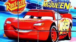 Тачки Молния Маквин собираем кубики пазлы для детей с героями  мультика Тачки Lightning McQueen