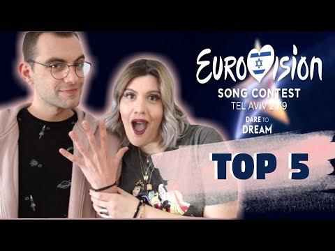 Eurovision 2019 Top 5 + Greece