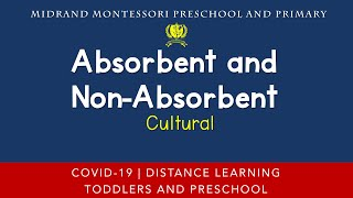 Montessori Cultural Presentation - Absorbent and Non Absorbent Science Experiment