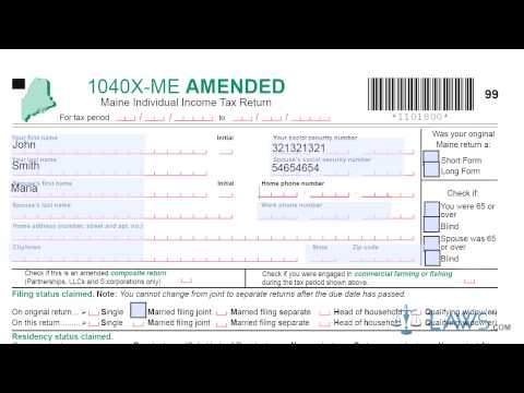Form 1040X ME Maine Amended Individual Income Tax Return