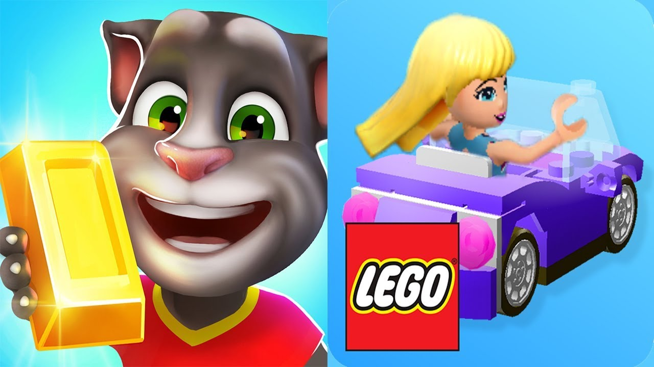 Lego Friends Heartlake Rush Vs Talking Tom Gold Run Youtube