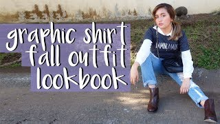3 Ways To Wear A Simple Graphic Shirt (Fall Lookbook) | HOW TO