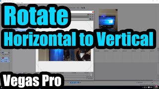 How to QUICKLY rotate video in Sony Vegas pro 16 | ARTISTIC Production.