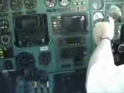 Посадка Ту 154 вид из кабины пилотов   Любительское видео   Avsim su
