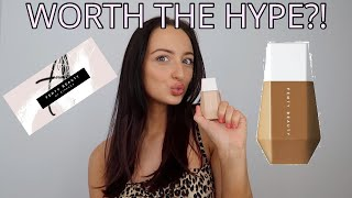 HONEST FENTY BEAUTY EAZE DROP BLURRING SKIN TINT REVIEW AND TRY ON/FIRST IMPRESSION!