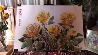 Акварель - Желтые розы. Видеоурок