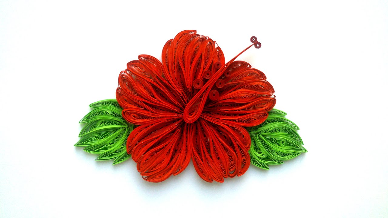 Quilling flower how to make beautiful quilling red flower quilling quilling flower how to make beautiful quilling red flower quilling paper art quilling youtube mightylinksfo