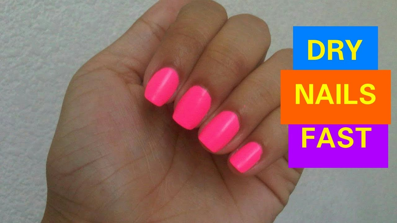 4 Ways To Dry Your Nails Fast - YouTube