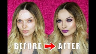 ACNE COVERAGE FLAWLESS GLAM MAKEUP TUTORIAL // MyPaleSkin