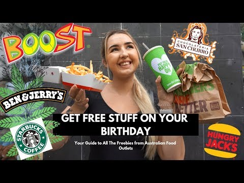 Where To Get Free Food On Your Birthday In Australia ~ Free Vegan Fast Food W Soybabie