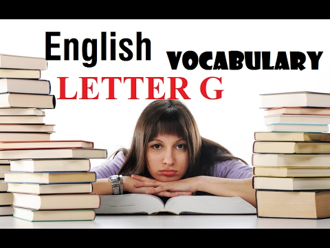 English vocabulary: Hello Channel G