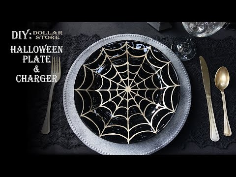 HALLOWEEN DIY / PLATE AND CHARGER DOLLAR TREE