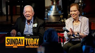 Former President Jimmy Carter And Wife Rosalynn Celebrate 75th Anniversary
