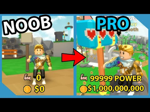 Noob To Pro! Got Giant Size & 120 Billion Muscles! Roblox Hammer Simulator