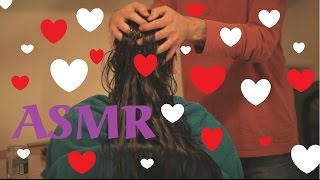 asmr indian heavy hair oiling   no talking version   scalp massage