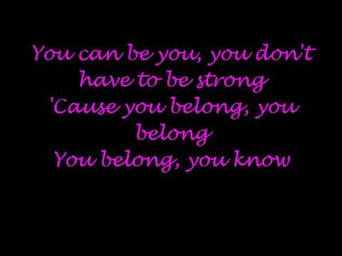 You belong Rachel Platten lyrics