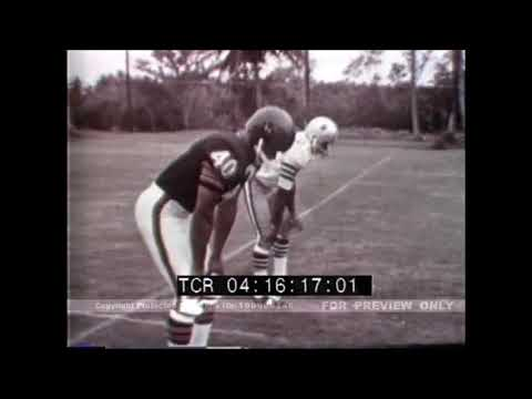 60s NFL demonstration film featuring All Pro Players