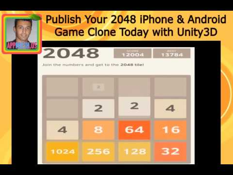 Publish 2048 viral game clone to Apple app store & Google Play store using Unity 3D and Photoshop