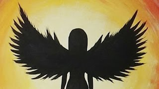 Acrylic Painting - Angel Silhouette