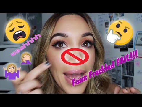Freckled Fail fall makeup tutorial thumbnail