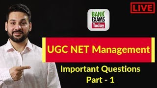 UGC NET Management - 5 Important Questions