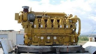 Cold Starting Up CATERPILLAR Engines and Cool Sound