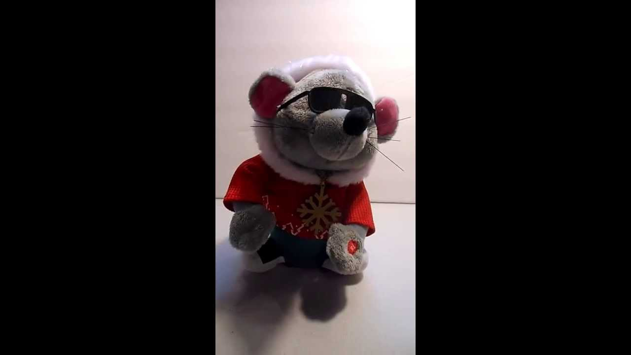 0abc4e065d1d7 Gemmy Animated Musical Plush Mouse Sings Def Squad Rapper s Delite Twas  Night Before Christmas