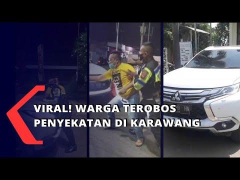 Download Viral! Warga Terobos Penyekatan di Karawang