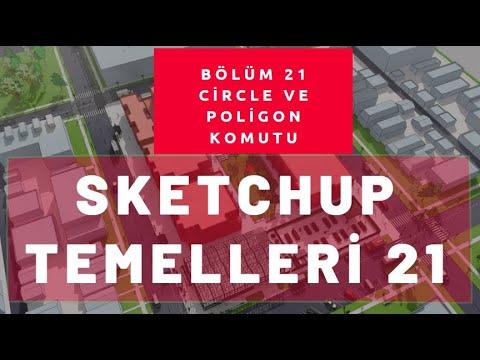 Sketchup Circle Ve Poligon Komutları 21