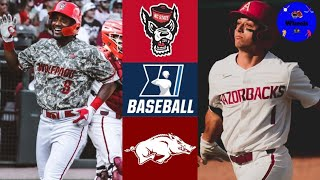NC State vs #1 Arkansas Highlights | Super Regional Game 1 | 2021 College Baseball Highlights