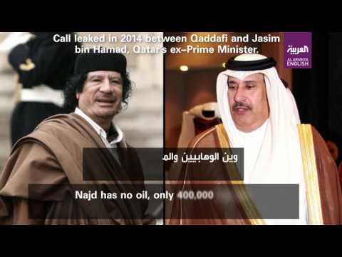 Leaked call between Qaddafi and Jasim bin Hamad, Qatar's ex-Prime Minister