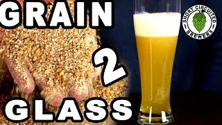How to brew a blueberry wheat beer. Grain to glass